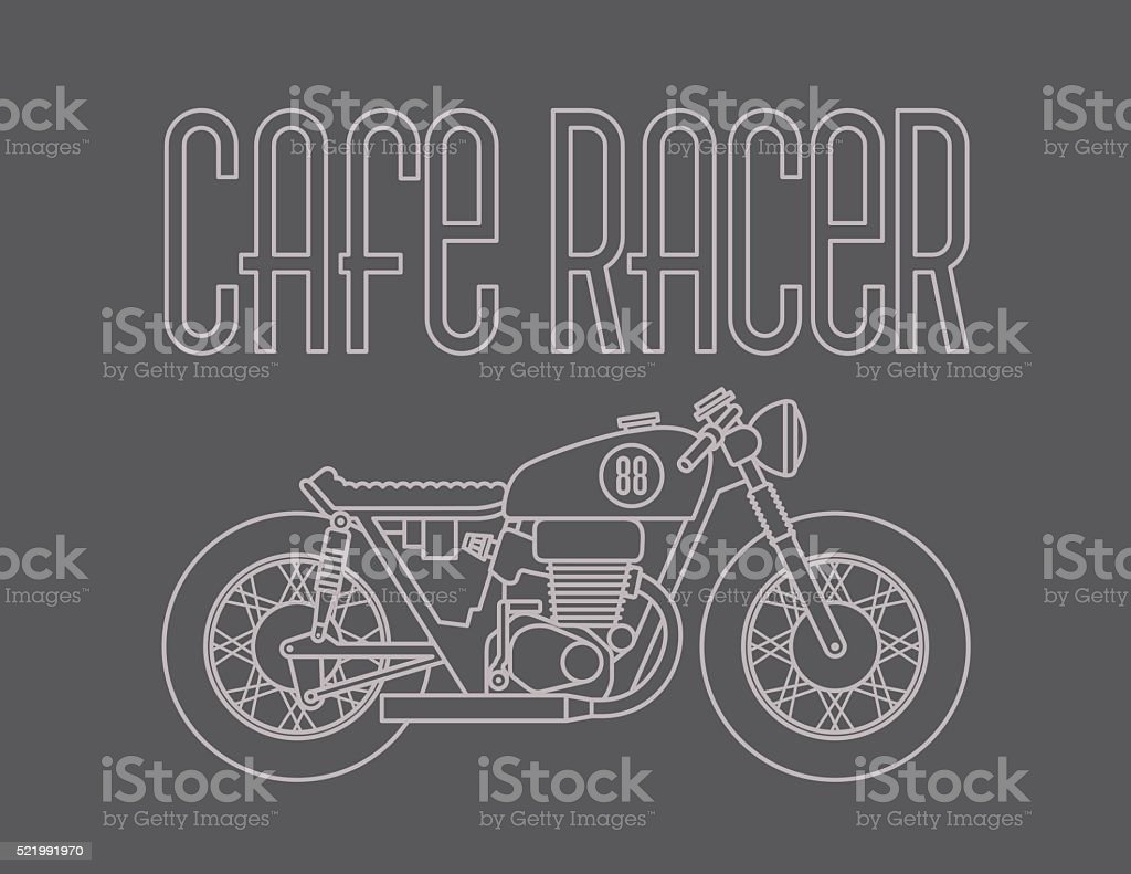 Cafe Racer Motorcycle Design Stock Illustration Download Image Now Istock