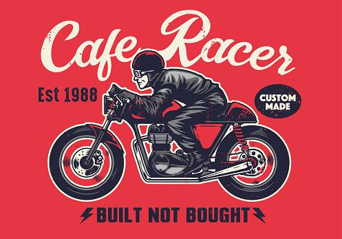 cafe racer t-shirt design in vintage style