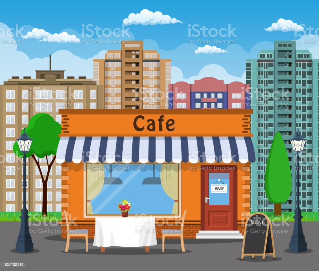 Cafe Shop Exterior Stock Illustration Download Image Now Istock