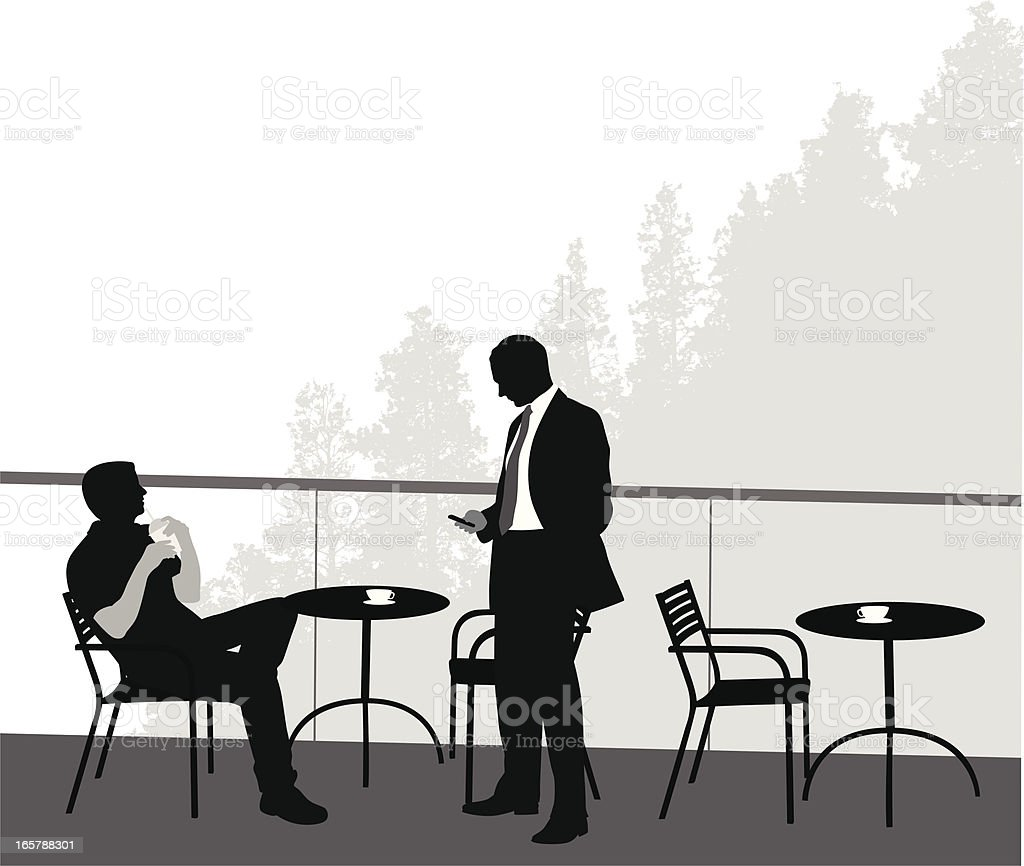 Cafe Vector Silhouette vector art illustration
