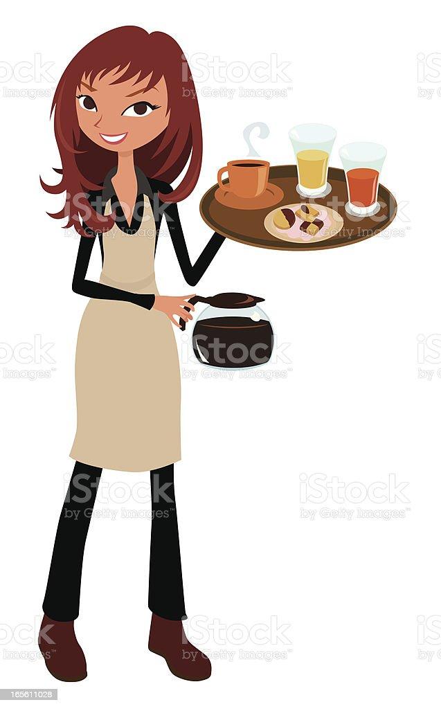 royalty free waitress clip art vector images illustrations istock rh istockphoto com waitress clipart graphics waitress clipart black and white