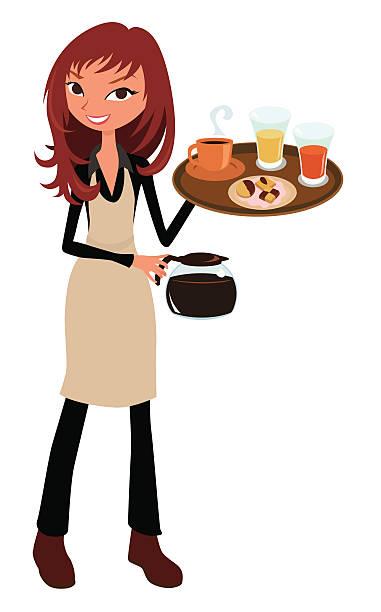 Kellnerin Clipart