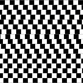 Cafe wall optical illusion