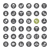 Cafe, Winery and Beer related vector icons