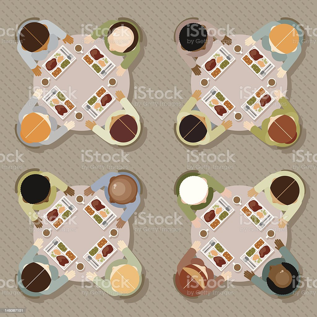 Cafeteria Lunch royalty-free cafeteria lunch stock vector art & more images of business