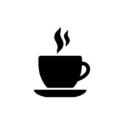 Cafetaria De Teken Cafe Zwart Vector Symbool Koffiekopje Met Rook Pictogram  Stockvectorkunst en meer beelden van Bord - Bericht - iStock