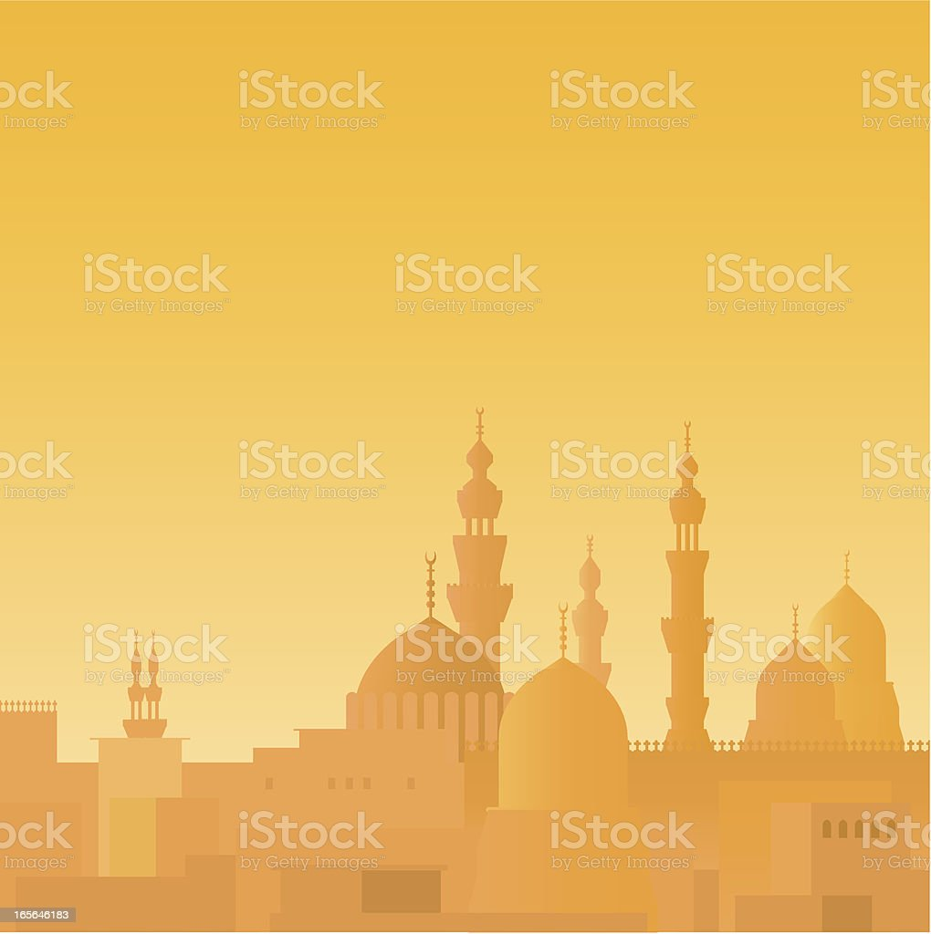Cairo skyline royalty-free stock vector art