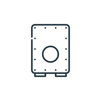 cajon icon vector from cinco de mayo concept. Thin line illustration of cajon editable stroke. cajon linear sign for use on web and mobile apps, logo, print media..