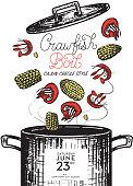 istock Cajun Creole Crawfish Boil invitation design template 944876920