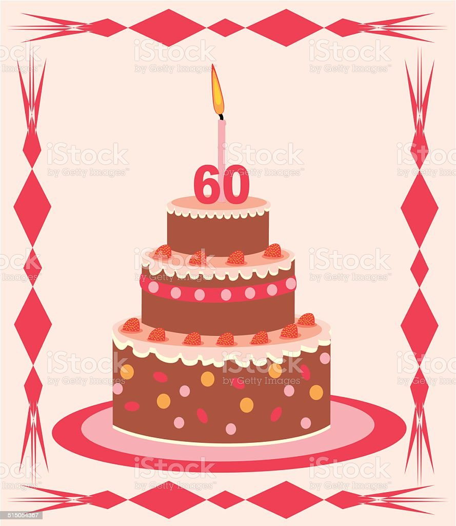 Cake 60 Year Royalty Free Stock Vector Art Amp More