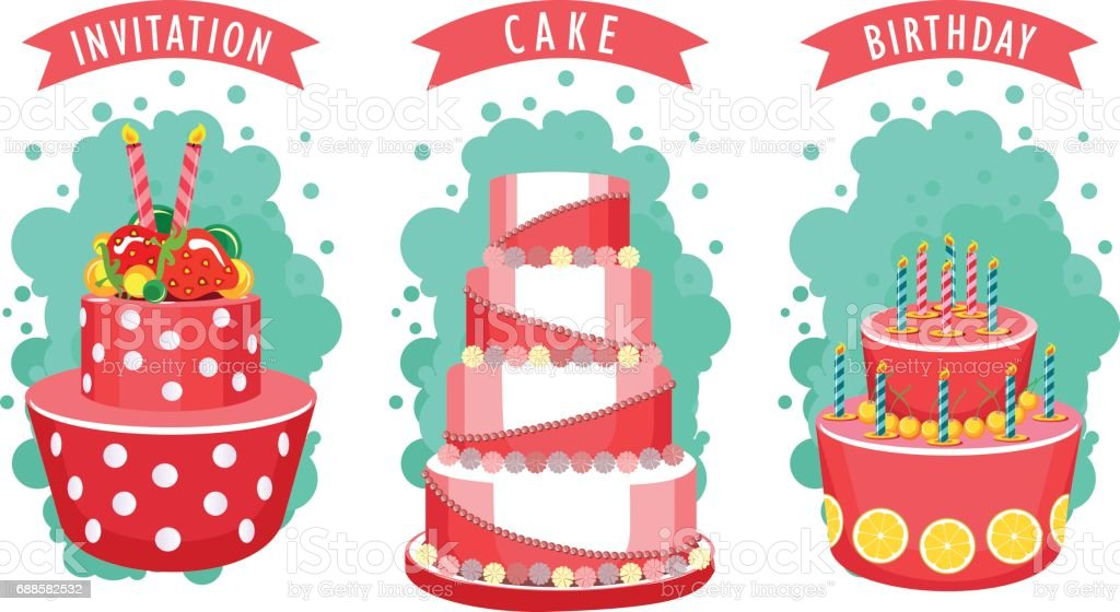 Cake Business Card Stock Vector Art More Images Of Abstract