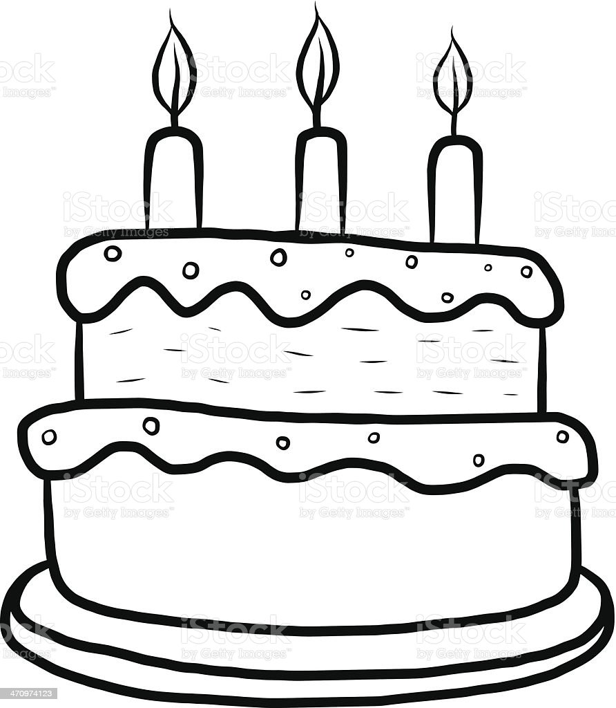Cake Black And White Cake Clipart Black And White Clipartfest