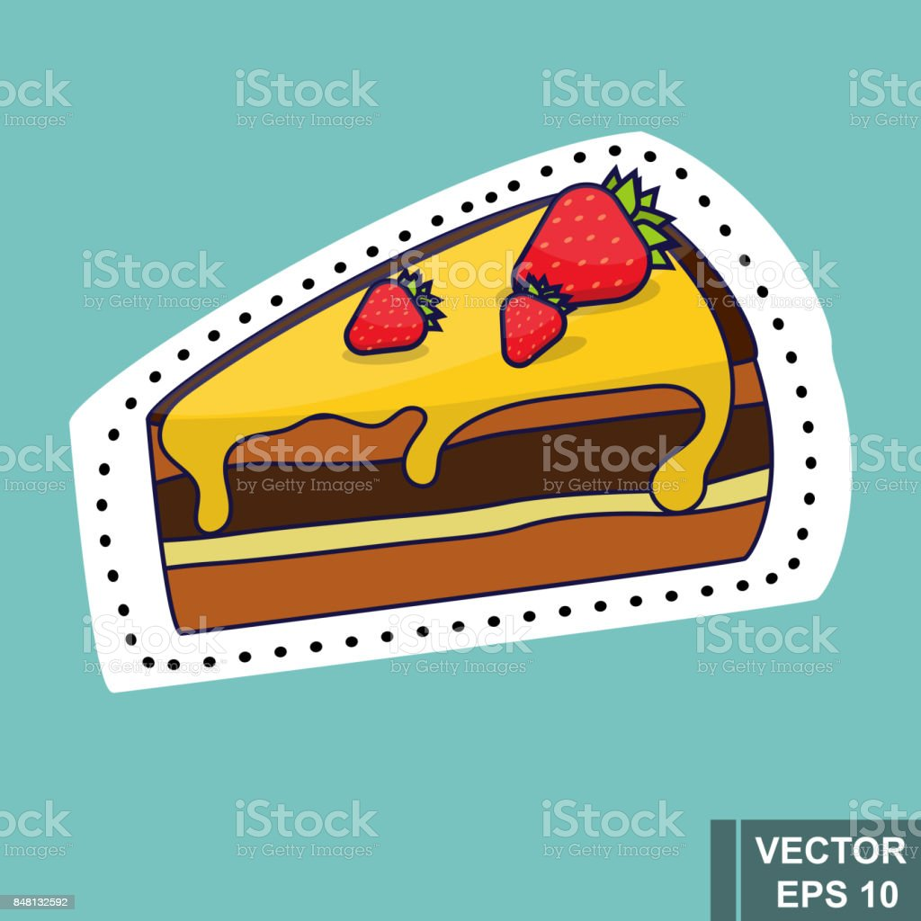 Cake. Fast food. Tasty food. For your design. vector art illustration