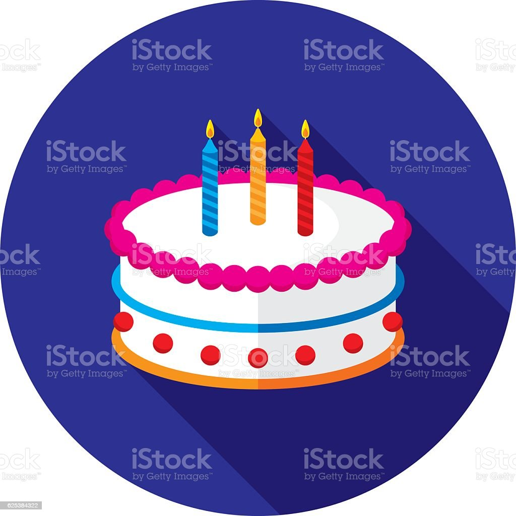 Cake Icon Flat vector art illustration