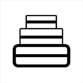 istock A cake icon made of black lines on a white background for use in web design or clipart 1329061866