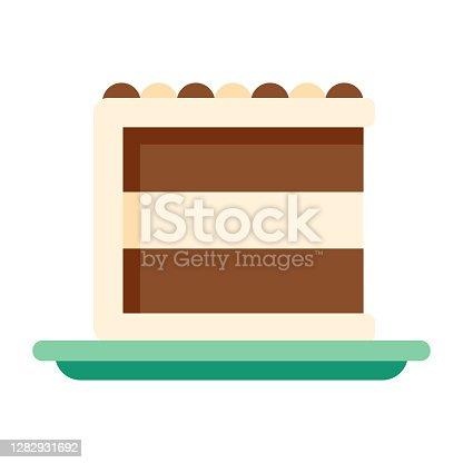 istock Cake Icon on Transparent Background 1282931692