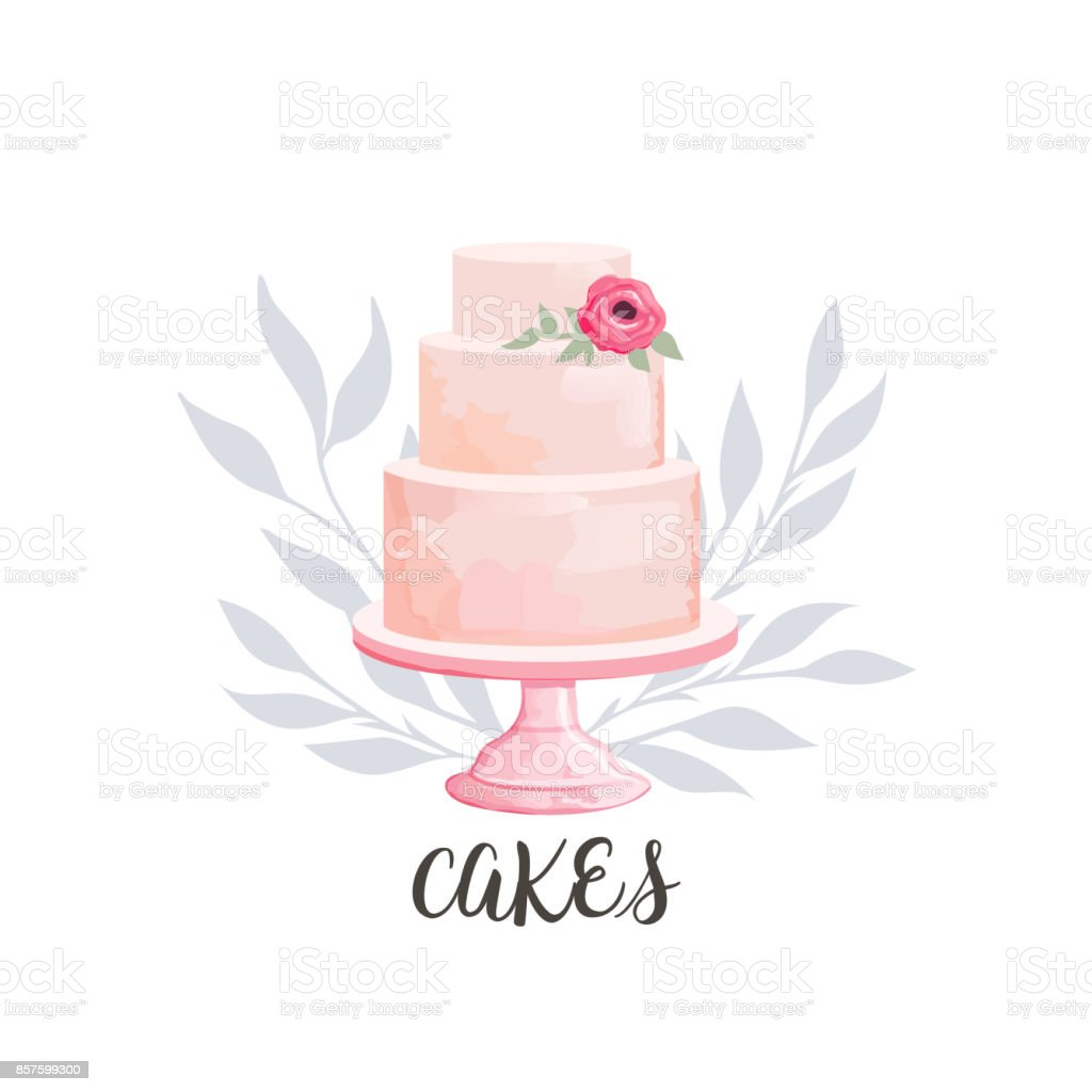 cake icon vector art illustration