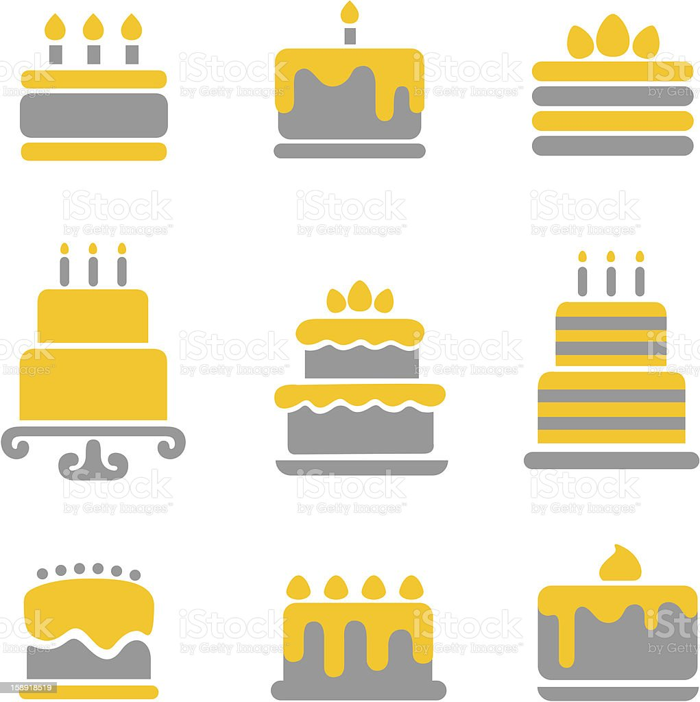 Cake icons vector art illustration