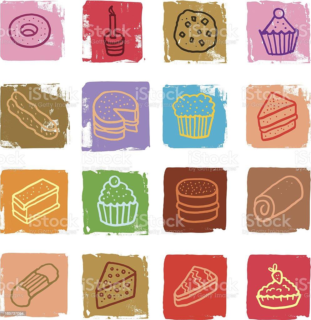Cake icons vector art illustration