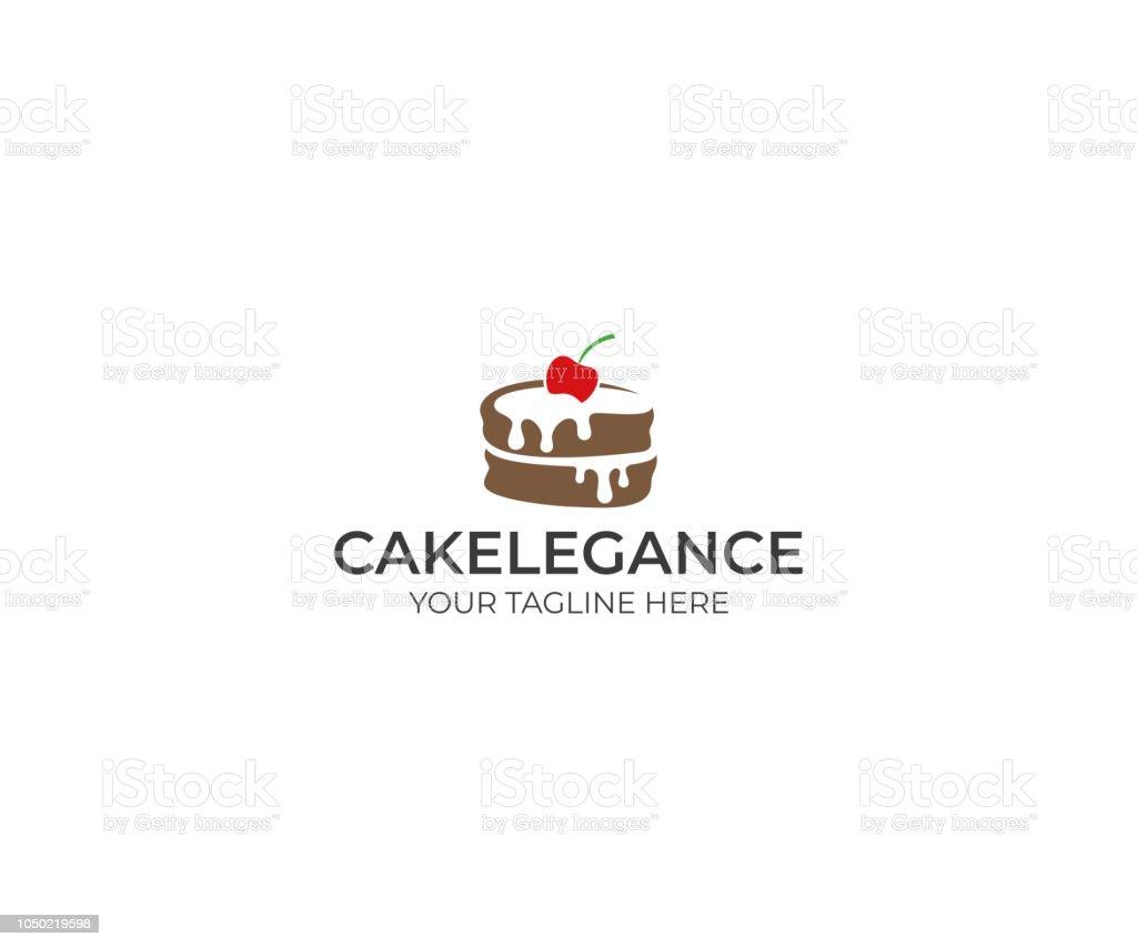 Cake Logo Design Food Vector Design Baking Illustration Stock Vector