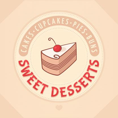 cake Logo sweet dessert
