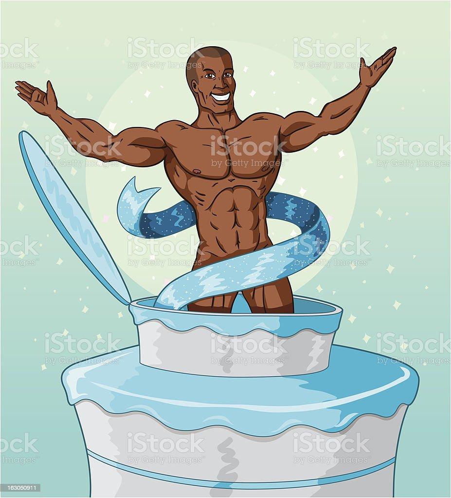 Cake man royalty-free stock vector art