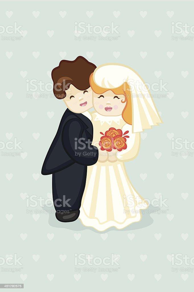 Bolos recém-casados - ilustração de arte em vetor