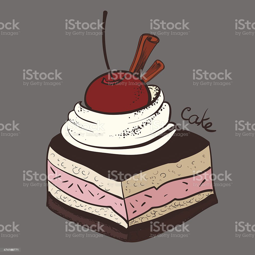 cake, portion, piece royalty-free stock vector art