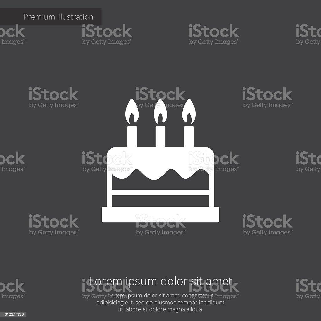 cake premium illustration icon