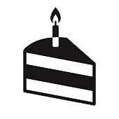 istock Cake Romance Glyph Icon 1304984072