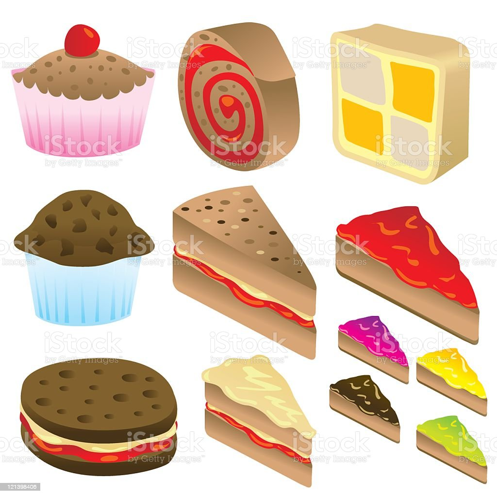 Cake Selection royalty-free cake selection stock vector art & more images of afternoon tea
