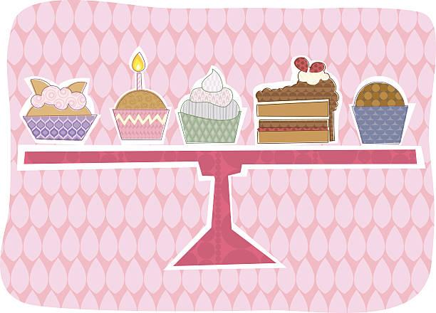 Cake selection vector art illustration