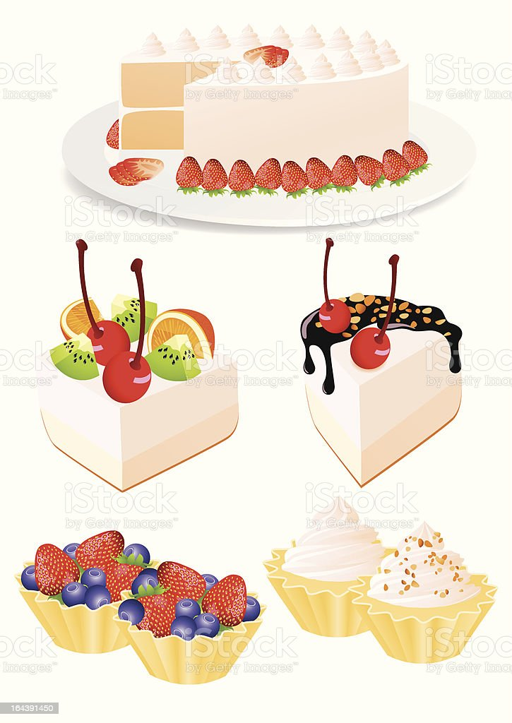 Cake set royalty-free cake set stock vector art & more images of baking