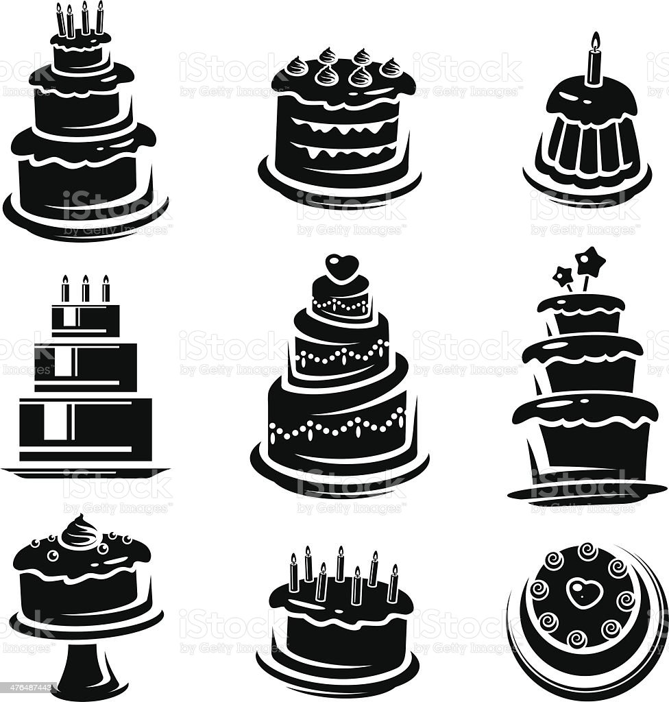 Cake set. Vector royalty-free stock vector art