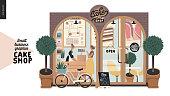 istock Cake shop - small business graphics - facade 1189333702