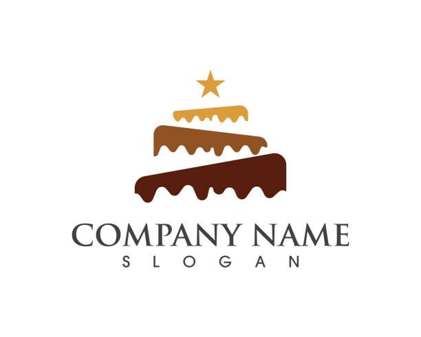 cake sign icon - cake stock illustrations