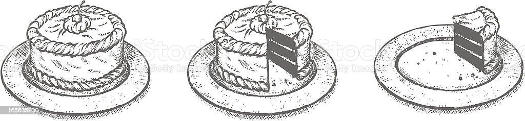 Cake Sketch royalty-free stock vector art