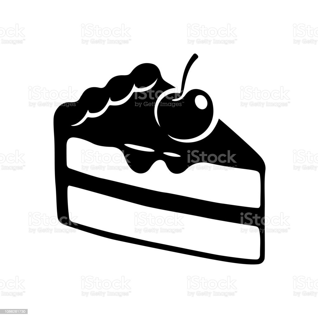Kuchenslice Zeichnen Stock Vektor Art Und Mehr Bilder Von Backerei