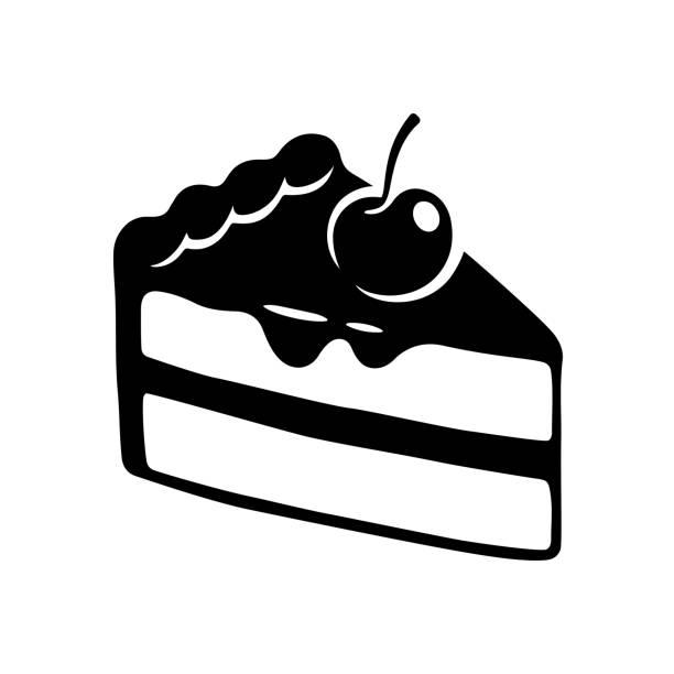 stockillustraties, clipart, cartoons en iconen met taart segment tekenen - taartpunt