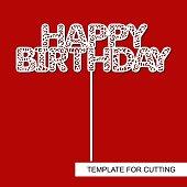 Cake Topper Happy Birthday.