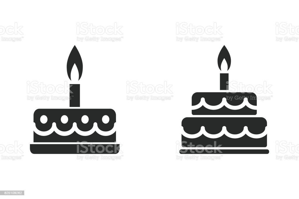 Cake - vector icon.