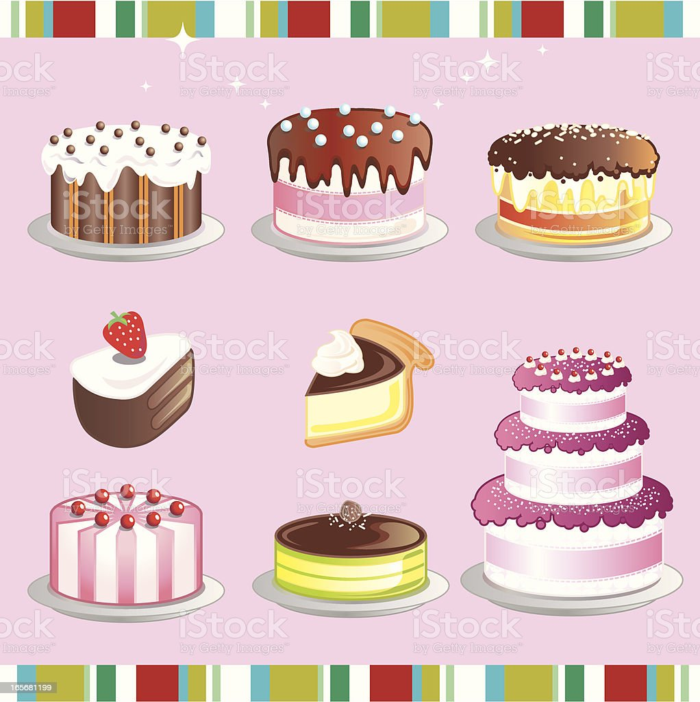 Cake royalty-free cake stock vector art & more images of baked