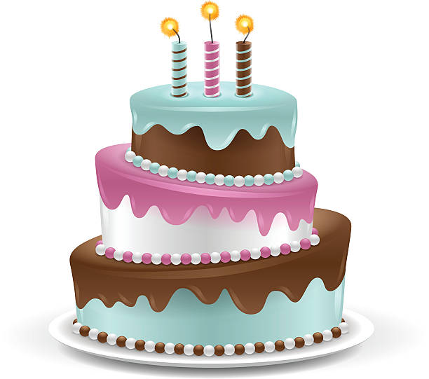 cake - happy birthday cake stock illustrations, clip art, cartoons, & icons