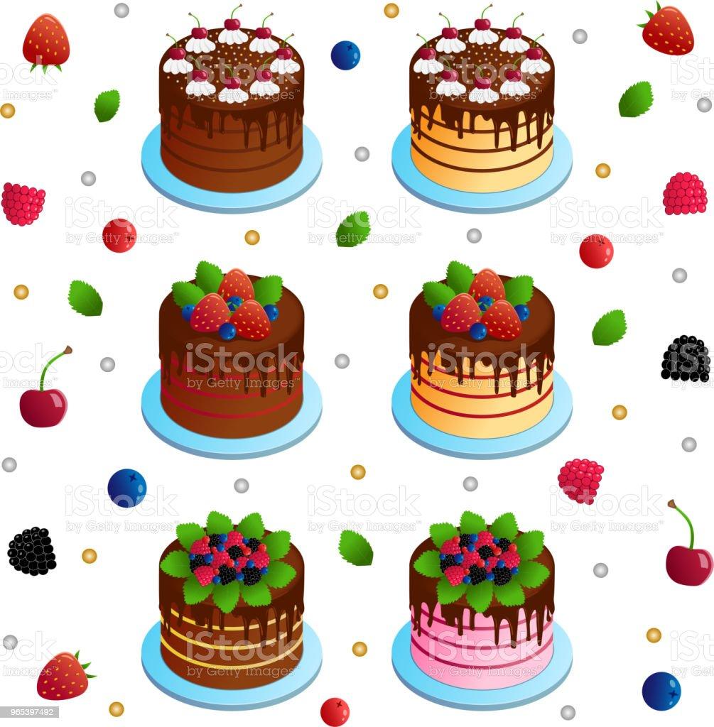 Gâteau - clipart vectoriel de Aliment libre de droits
