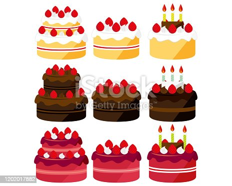 istock Cake vector illustration . Sweets, desserts . chocolate cake . Shortcake 1202017882