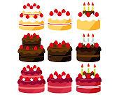 istock Cake vector illustration . Sweets, desserts . chocolate cake . Shortcake 1202017882