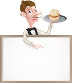 istock Cake Waiter Sign 485326774
