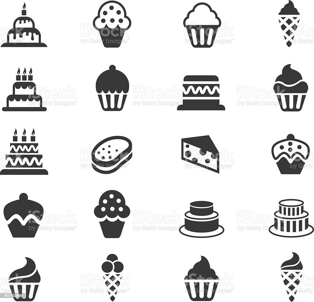 Cakes and Cupcakes icon set – Vektorgrafik
