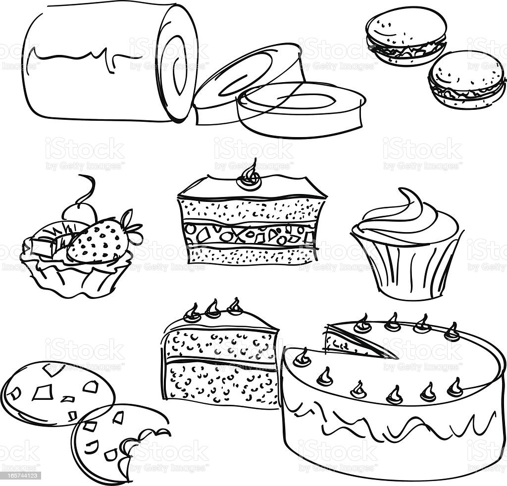 Cakes collection royalty-free cakes collection stock vector art & more images of baked pastry item