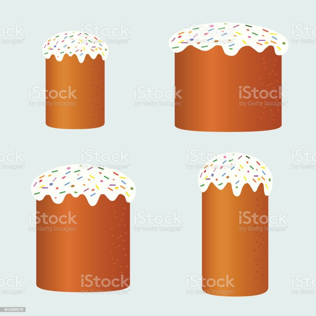 cakes collection vector art illustration